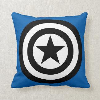 Captain America Shield Icon Throw Pillow