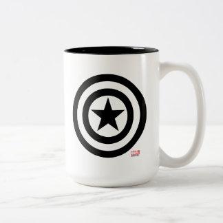 Captain America Shield Icon Two-Tone Coffee Mug