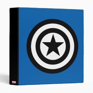 Captain America Shield Icon Vinyl Binders