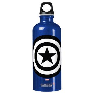 Captain America Shield Icon Water Bottle