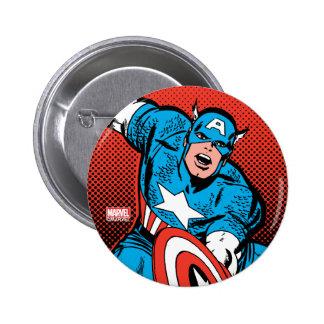 Captain America Shield Slam 2 Inch Round Button