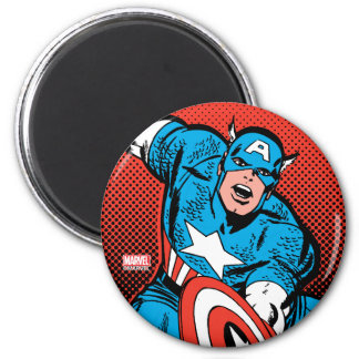 Captain America Shield Slam 2 Inch Round Magnet