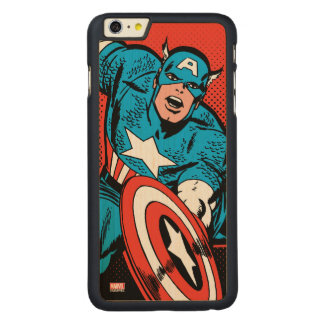 Captain America Shield Slam Carved® Maple iPhone 6 Plus Case