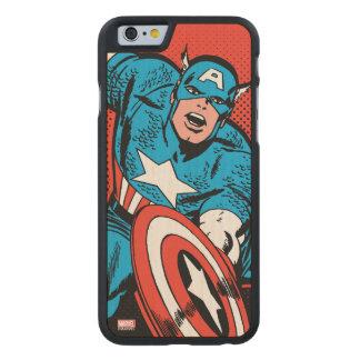 Captain America Shield Slam Carved® Maple iPhone 6 Slim Case
