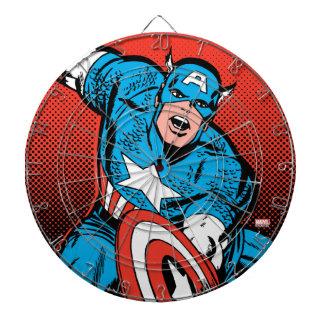 Captain America Shield Slam Dartboard With Darts