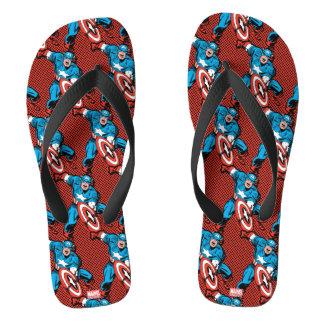 Captain America Shield Slam Flip Flops