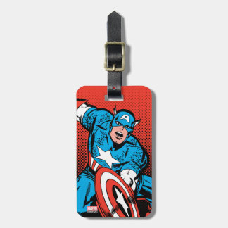 Captain America Shield Slam Luggage Tag