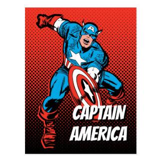 Captain America Shield Slam Postcard
