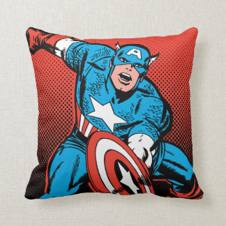 Captain America Shield Slam Throw Pillow