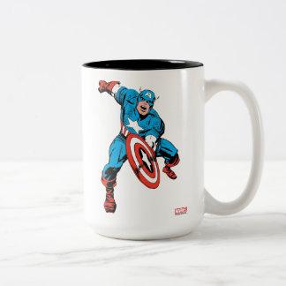 Captain America Shield Slam Two-Tone Coffee Mug