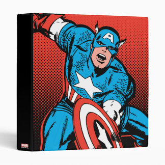Captain America Shield Slam Vinyl Binders