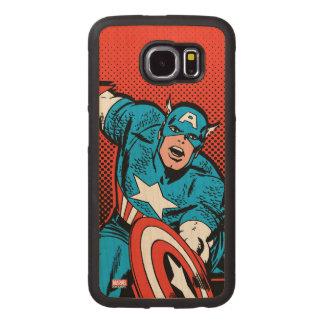 Captain America Shield Slam Wood Phone Case