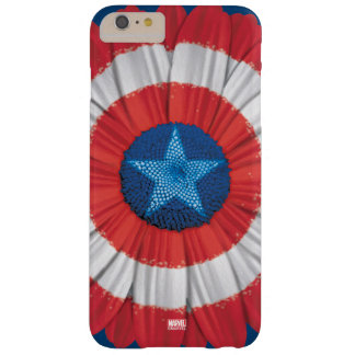 Captain America Shield Styled Daisy Flower Barely There iPhone 6 Plus Case