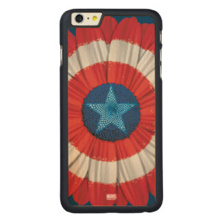Captain America Shield Styled Daisy Flower Carved® Maple iPhone 6 Plus Case