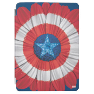 Captain America Shield Styled Daisy Flower iPad Air Cover