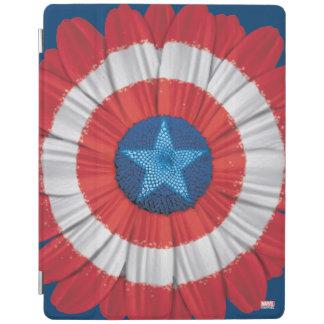 Captain America Shield Styled Daisy Flower iPad Cover