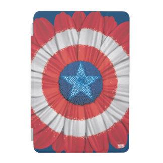 Captain America Shield Styled Daisy Flower iPad Mini Cover
