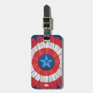 Captain America Shield Styled Daisy Flower Luggage Tag