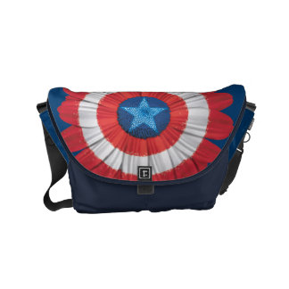 Captain America Shield Styled Daisy Flower Messenger Bag