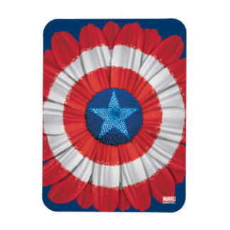 Captain America Shield Styled Daisy Flower Rectangular Photo Magnet