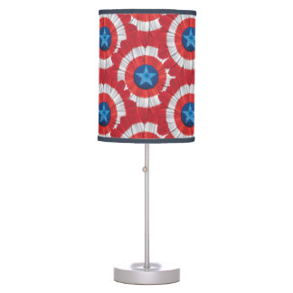 Captain America Shield Styled Daisy Flower Table Lamp