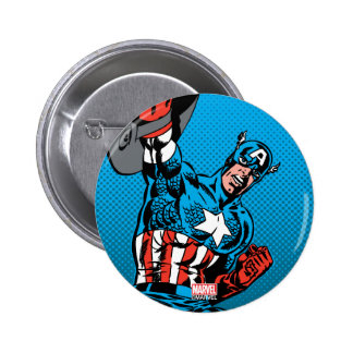 Captain America Shield Up 2 Inch Round Button