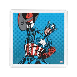 Captain America Shield Up Acrylic Tray