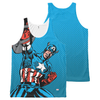 Captain America Shield Up All-Over-Print Tank Top