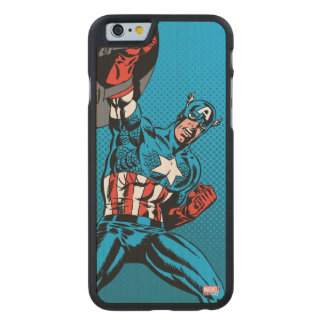 Captain America Shield Up Carved® Maple iPhone 6 Slim Case