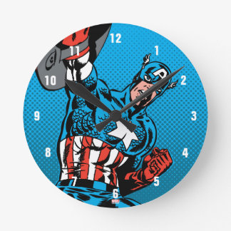 Captain America Shield Up Clock