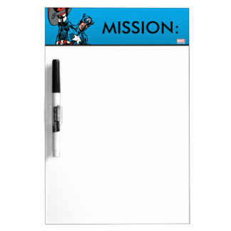 Captain America Shield Up Dry Erase Whiteboard