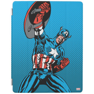 Captain America Shield Up iPad Cover
