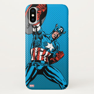 Captain America Shield Up iPhone X Case
