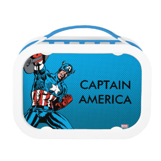 Captain America Shield Up Lunch Box
