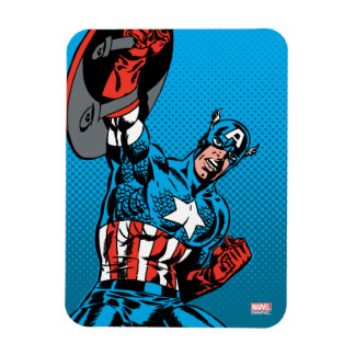 Captain America Shield Up Rectangular Photo Magnet