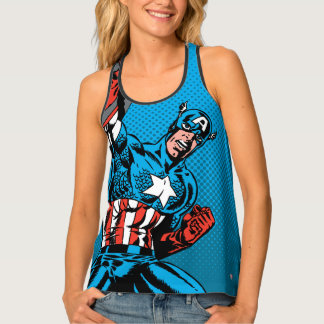 Captain America Shield Up Tank Top
