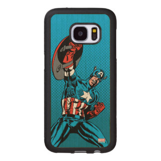 Captain America Shield Up Wood Samsung Galaxy S7 Case