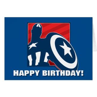Captain America Silhouette Icon Card