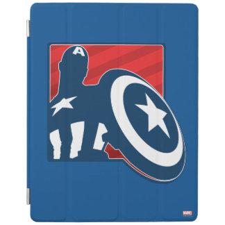 Captain America Silhouette Icon iPad Cover