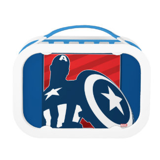Captain America Silhouette Icon Lunch Boxes
