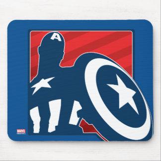 Captain America Silhouette Icon Mouse Pad