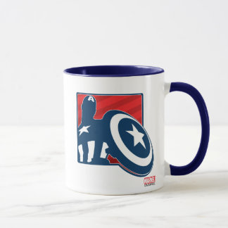 Captain America Silhouette Icon Mug