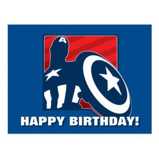 Captain America Silhouette Icon Postcard