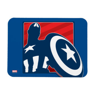 Captain America Silhouette Icon Rectangular Photo Magnet