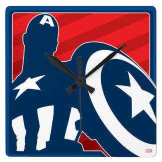 Captain America Silhouette Icon Wall Clocks
