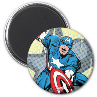 Captain America Star 2 Inch Round Magnet
