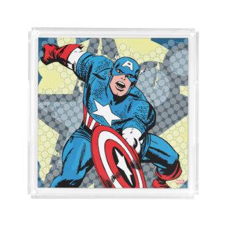Captain America Star Acrylic Tray
