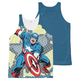 Captain America Star All-Over-Print Tank Top