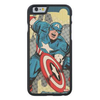 Captain America Star Carved® Maple iPhone 6 Slim Case