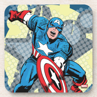Captain America Star Coaster